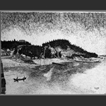 La Malbaie -- China Ink by Marc Tremblay